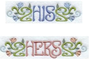 His & Hers - art nouveau