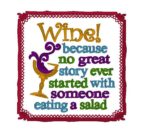 Wine not salad