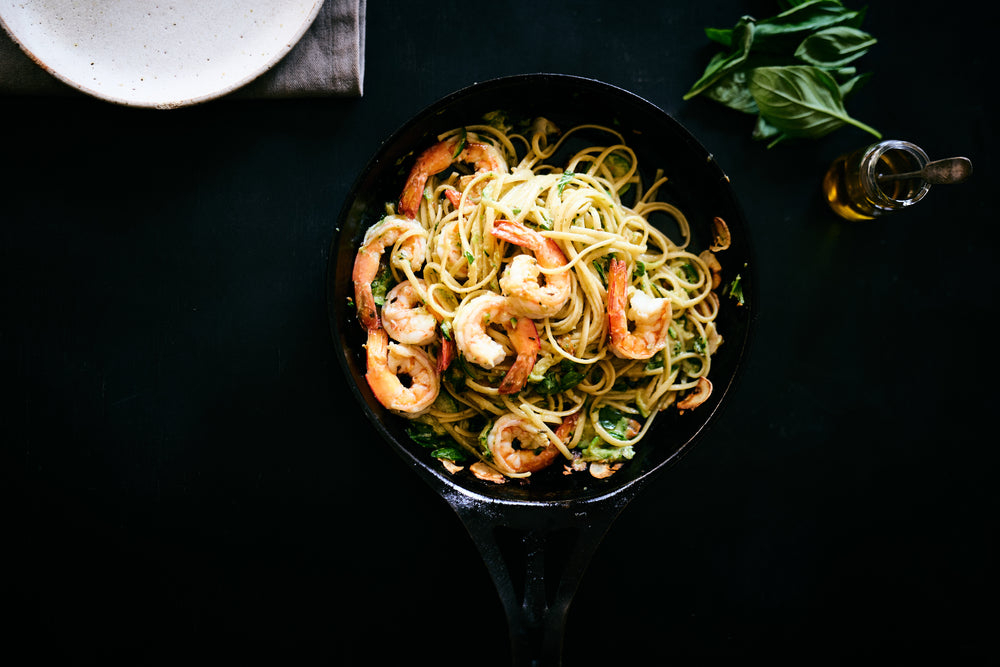 Linguini with Prawns, Garlic, Chilli and Fennel Seed