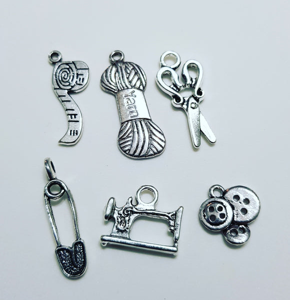 Sewing themed charms pendants sweet stitch sewing themed charms pendants mozeypictures Gallery