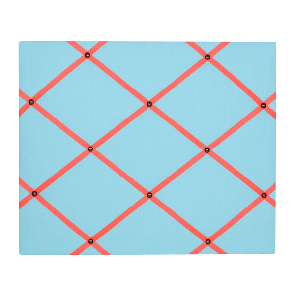 Turquoise / Neon Orange Ribbon Memo Ribbon Board