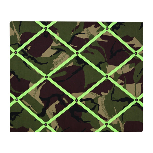 Camo / Neon Yellow Ribbon Memo Board