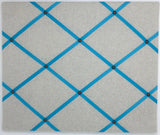 Soft Grey / Turquoise Ribbon Memo Board