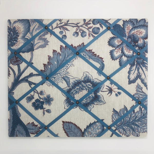 Blue Floral Ribbon Memo Board / French Blue Ribbon