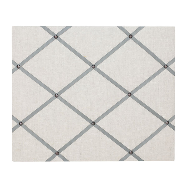 Natural Linen / Grey Ribbon Memo Board