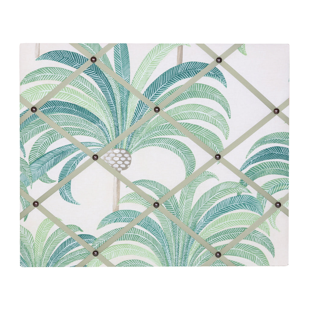 Palm Print / Green Ribbon Memo Board
