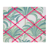 Medium Palm Print / Pink Ribbon Memo Board