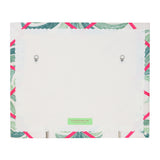 Palm Print / Neon Orange Ribbon Memo Board