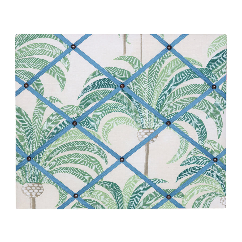 Medium Palm Print / French Blue Ribbon Memo Board