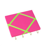 Pink / Neon Green Ribbon Jewellery Holder
