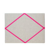 Natural Linen / Bright Pink Ribbon Art Frame