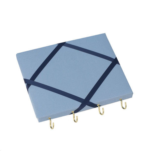 Blue / Navy Ribbon Jewellery Holder