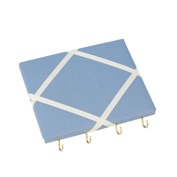 Blue / Ivory Ribbon Jewellery Holder