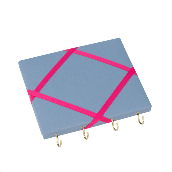 Blue / Pink Ribbon Jewellery Holder
