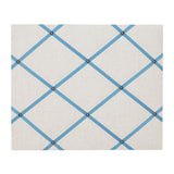 Natural Linen / French Blue Ribbon Memo Board
