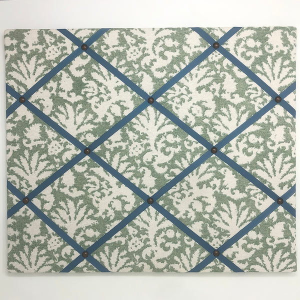 Fermoie Green Aylsham Ribbon Memo Board / French Blue Ribbon