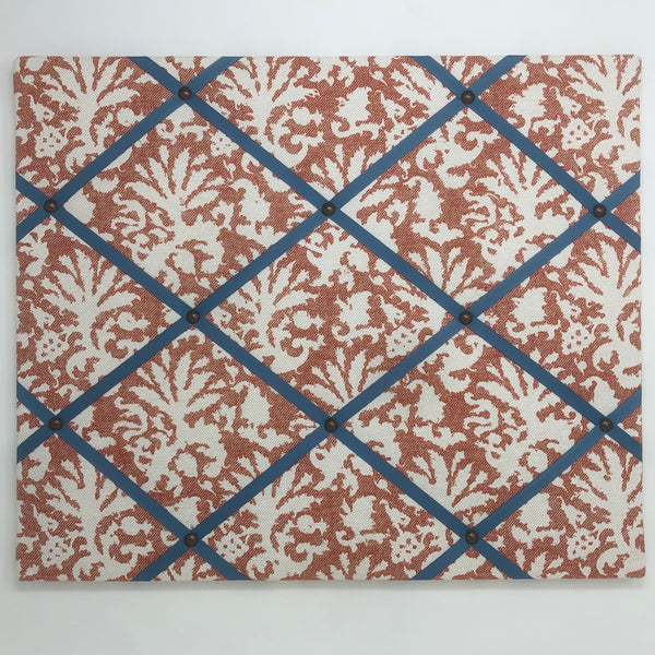 Fermoie Burnt Orange Aylsham Ribbon Memo Board / French Blue Ribbon