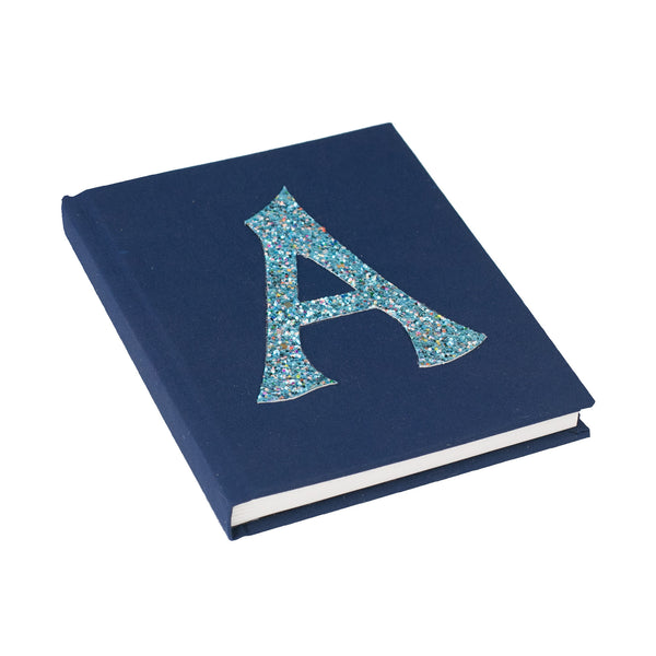 Navy Blue Personalised Alphabet Notebook