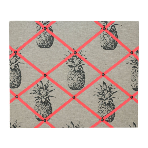 Pineapple Linen / Neon Orange Ribbon Memo Board