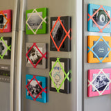 Pink / Neon Green Magnetic Photo Frame
