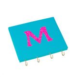 Turquoise / Pink Personalised Ribbon Jewellery Holder