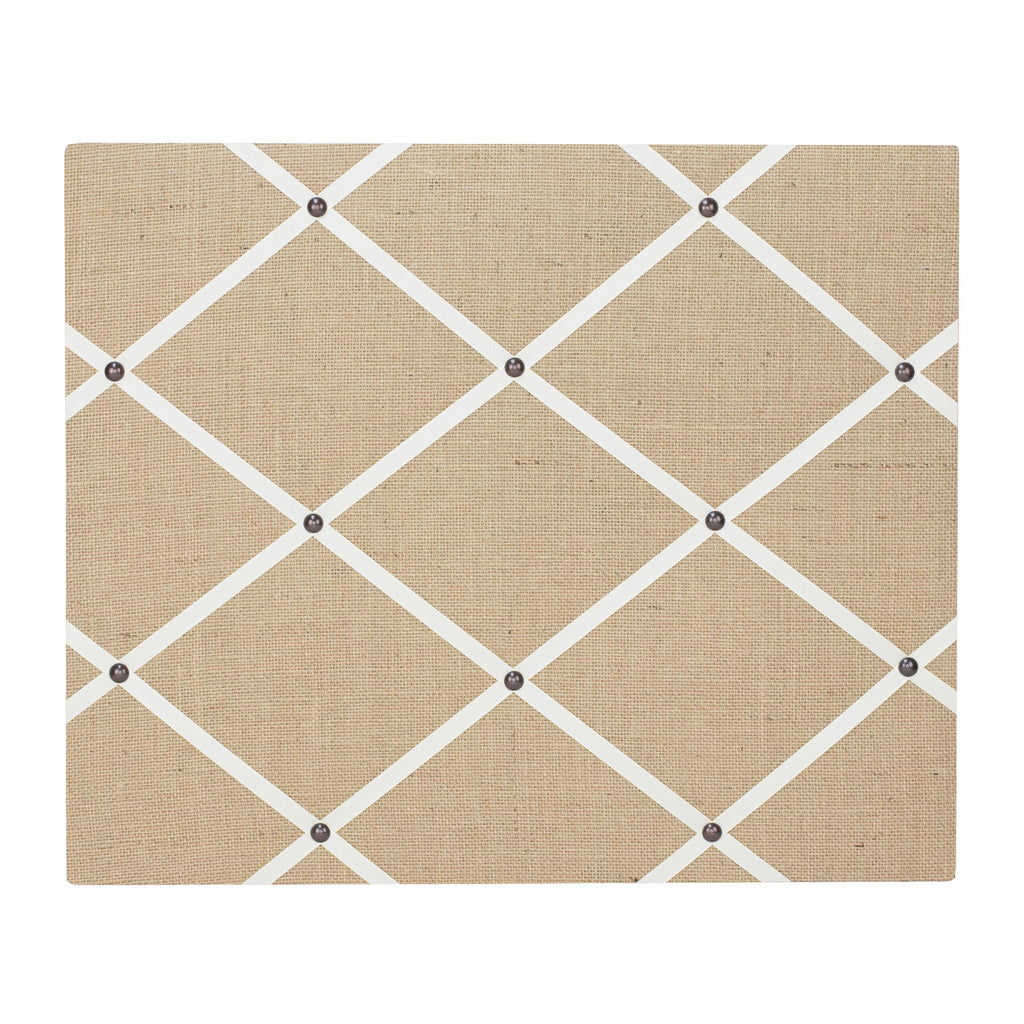 Hessian / Ivory Ribbon Memo Board