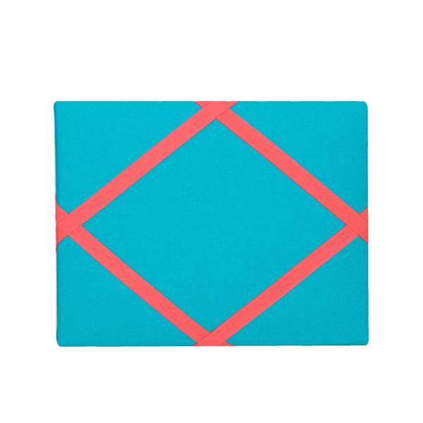 Turquoise / Neon Orange Magnetic Photo Frame