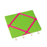 Green / Pink Ribbon Jewellery Holder