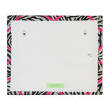 Zebra Ribbon Memo Board - Neon Pink Ribbon