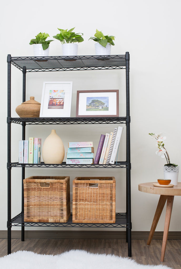 Epoxy black mild steel shelf - Large