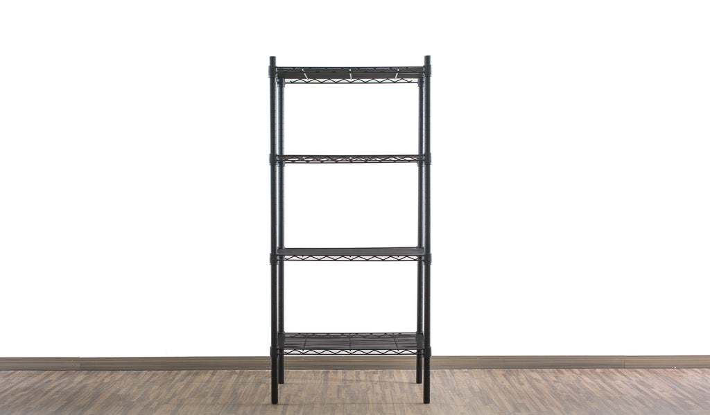 Epoxy black coated mild steel shelf - Medium