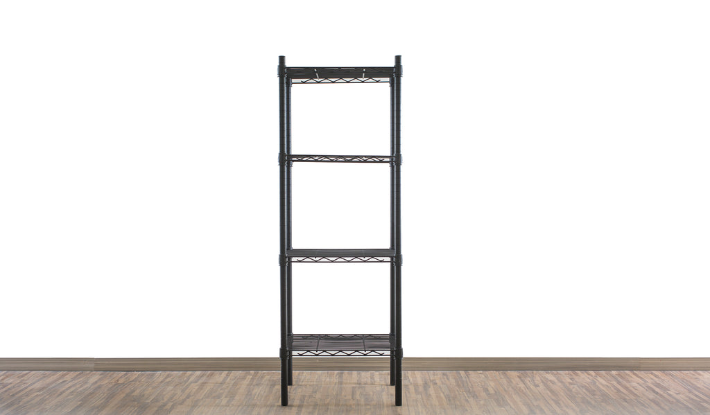 Epoxy black coated mild steel shelf - Small