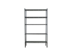 Epoxy black coated mild steel shelving rack - Extra Large