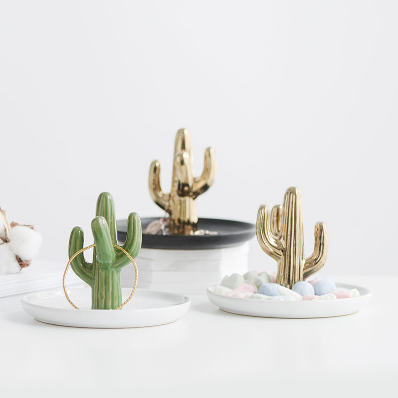 Accessory Tray - Black Gold Cactus