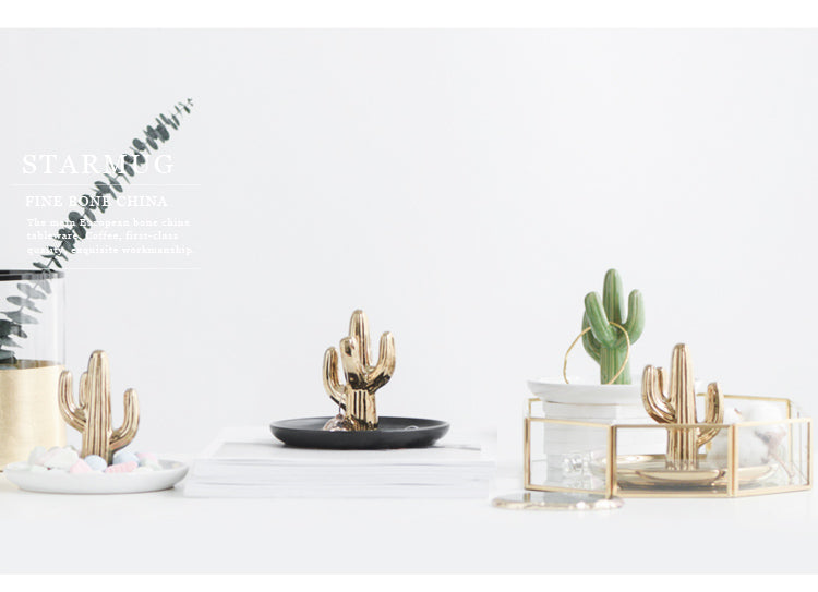 Accessory Tray - Green Cactus