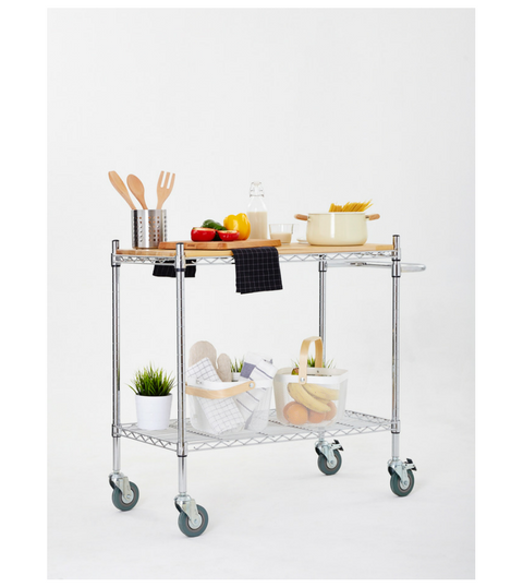 Chrome coated Kitchen trolley