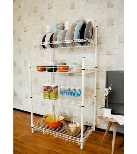 White Kitchen Rack