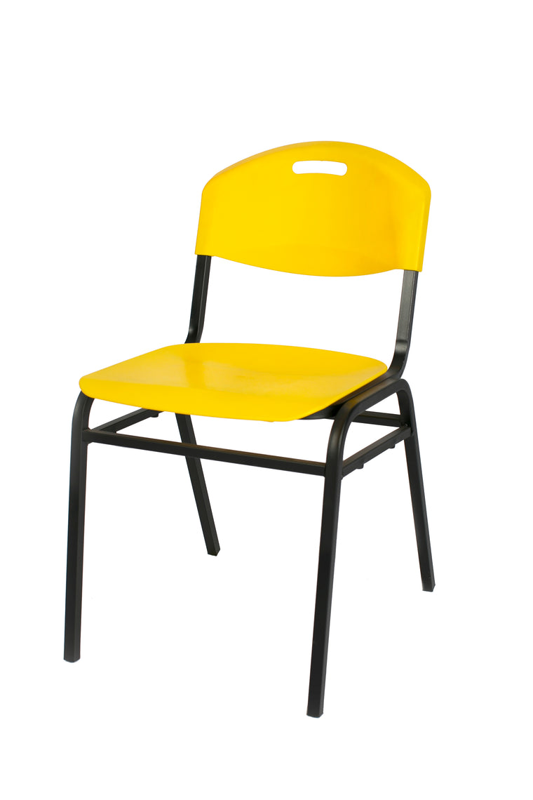 Yellow plastic chair