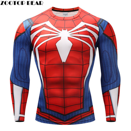 Rashguard compression spiderman