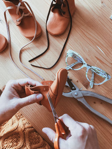 HAND MADE BABY MOCCASINS FROM CERTIFIED VEGETABLE TANNED LEATHER