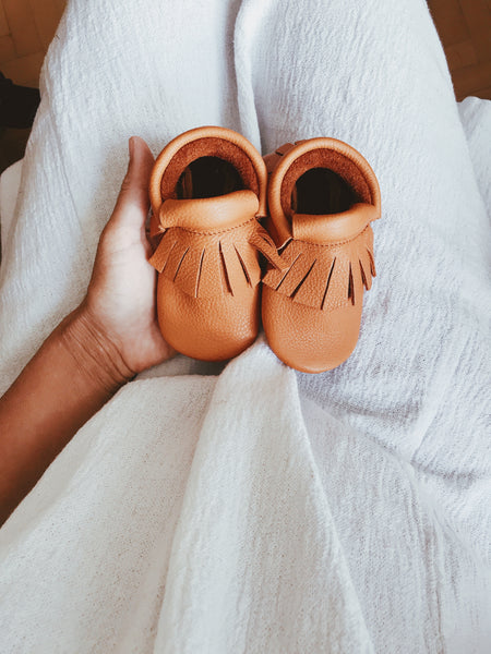 Vegetable Tanned Baby Toddler moccasins moccs