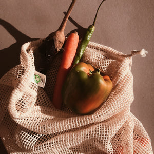 GOTS CERTIFIED ZERO WASTE FRUIT AND VEGETABLES BAG
