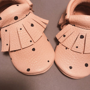DOTS SAND BABY MOCCASINS
