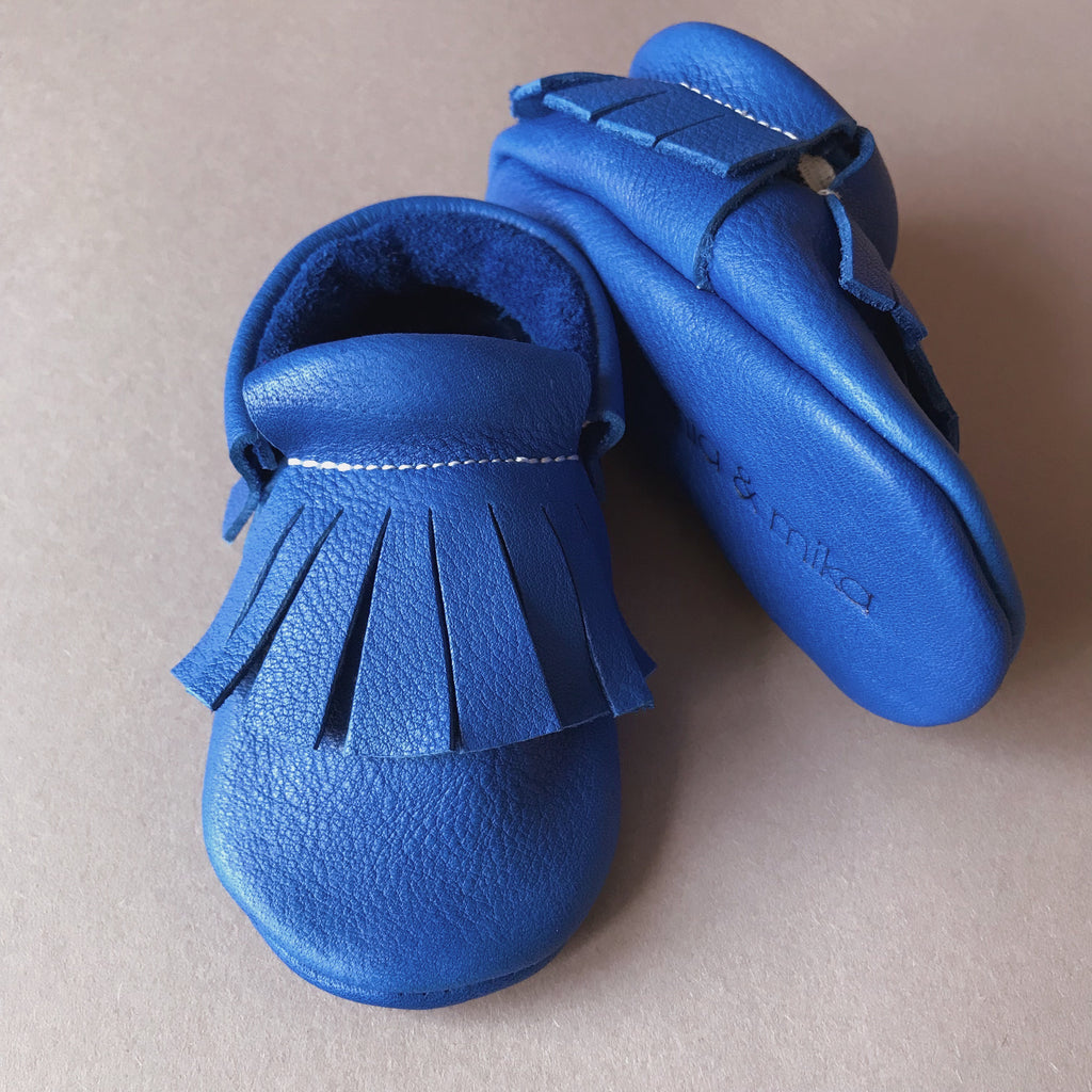 MIKA BABY MOCCASINS HOT BLUE