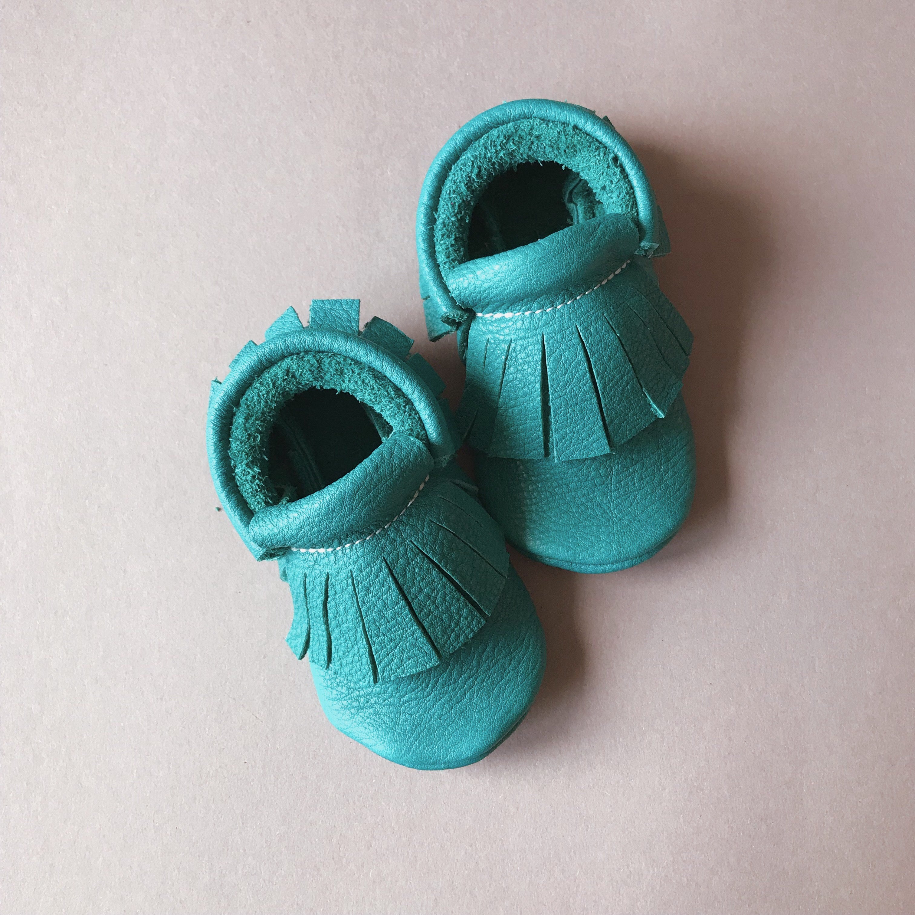 MIKA BABY MOCCASINS TURQUISE GREEN