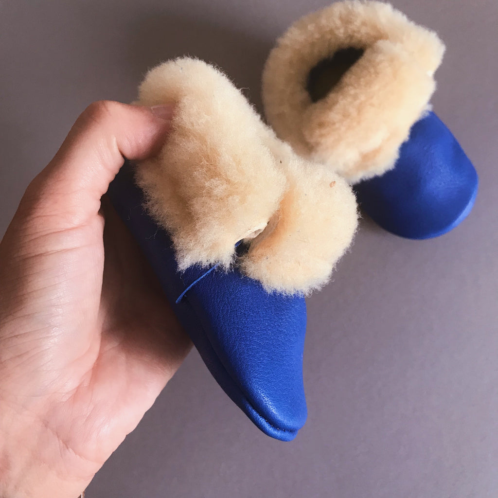 BLUE BEAR BABY MOCCASINS