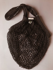 Granny's GOTS certified long handle string bag BLACK