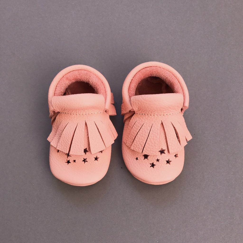 STAR BABY MOCCASINS PINK
