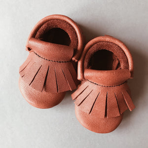 COOKIE BABY MOCCASINS BROWN
