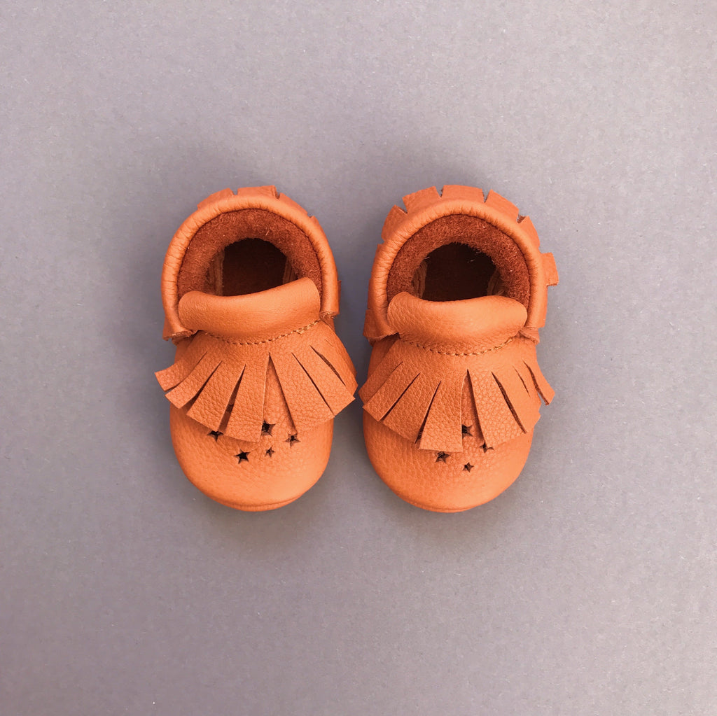 STAR BABY MOCCASINS BROWN